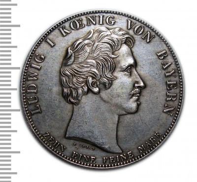 Талер 1837 копия монеты в серебре №221 копия