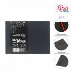 Блокнот A5 (14,8х21см), горизонтальний, чорний папір, 80г/м, 96л., ROSA Studio