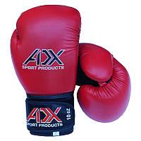 Боксерские перчатки ADX красные - 10 унций (модель AIBA, материал Flex)