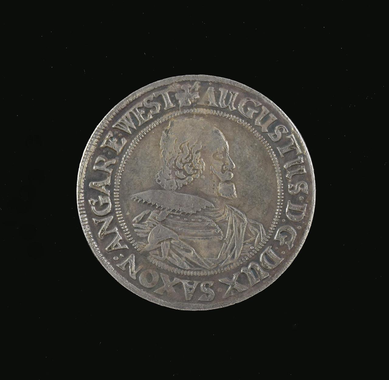 Талер 1620 года Август 2 Саксония копия монеты в серебре №279 копия