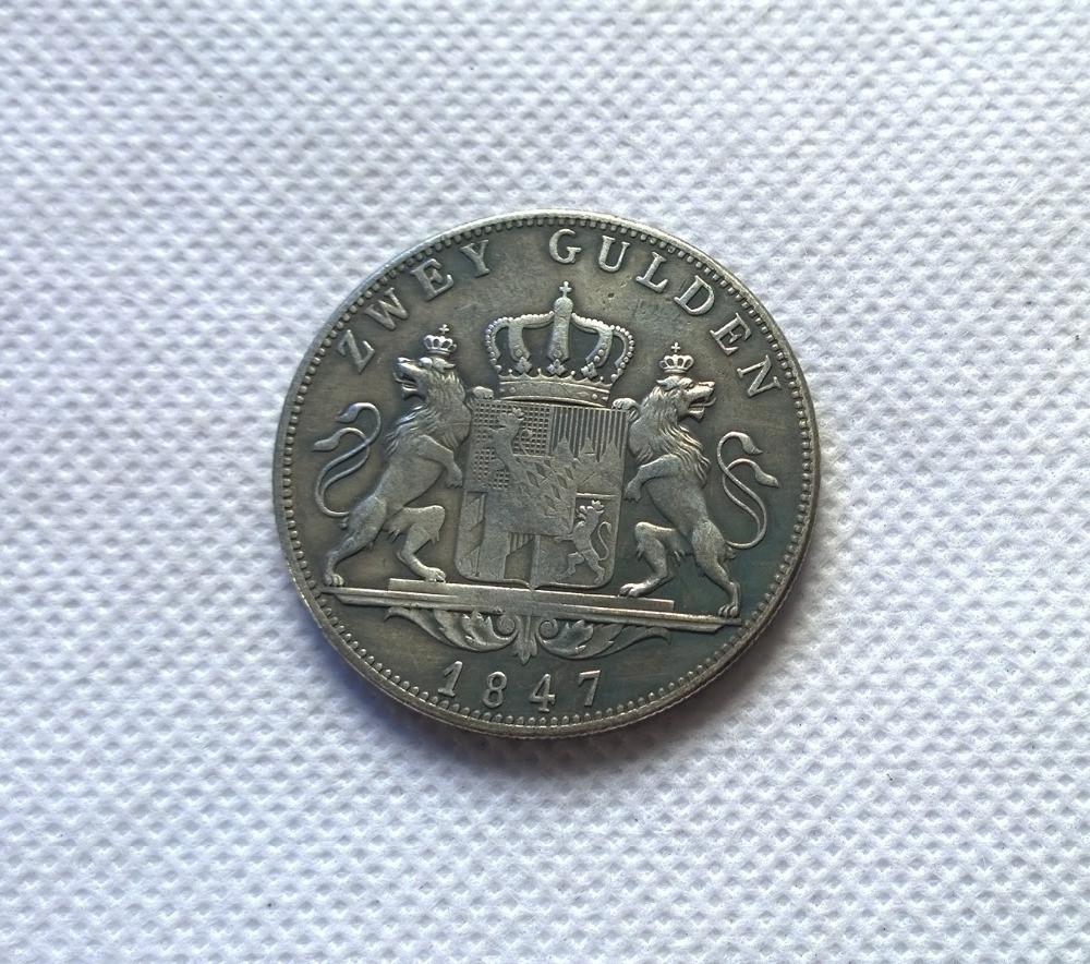 2 гульдена 1847 Людвиг №282 копия