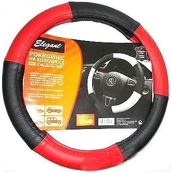 """Чехол на руль Elegant Maxi кожа """"премиум""""  красно-черный перфорированный размер M 37-38 см  EL 105 169"""