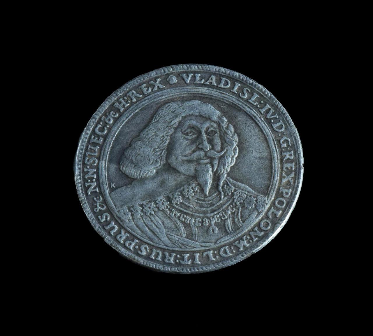 Талер 1637 г. Владислав 4, реплика монеты в серебре №531 копия