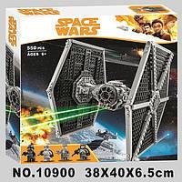 Конструктор Bela 10900 Star Wars Стар Варс Имперский истребитель СИД (TIE) 550 деталей, фото 1