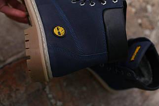 Зимние ботинки Timberland натуральная кожа темно синие. В Украине!, фото 2