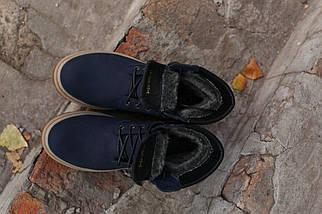 Зимние ботинки Timberland натуральная кожа темно синие. В Украине!, фото 3