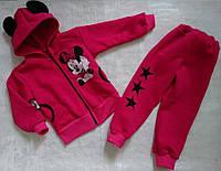 Спортивный костюм двойка с ушками для девочки Минни 28-36 р, детские спортивные костюмы от производителя