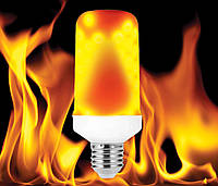 Светодиодная лампа  LED имитация пламени огня Е27 3Вт 3 режима работы