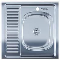 Мойка для кухни накладная квадрат правая 600 х 600 x 175/180 IMPERIAL 0,8 глянцевая