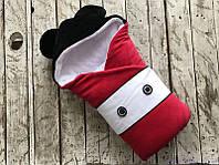"Зимний конверт для новорожденного ""Микки Маус"", на махре, фото 1"