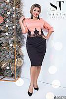 Комбинированное двухцветное платье с 50 по 56 размер, фото 6