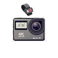 ✥Экшн-камера Lesko DV 4K H1 Black сенсорный дисплей водонепроницаемая камера Wi Fi
