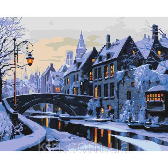 Картина за номерами Ідейка Прогулянка по нічному місту 40 х 50 см (арт. КН2243)