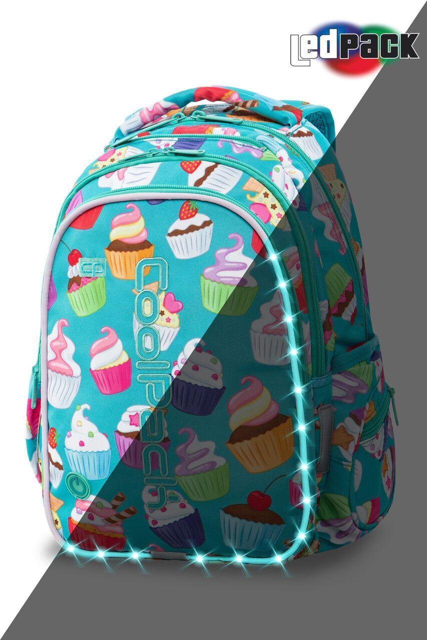 Рюкзак CoolPack LED 23L, модель Cupcakes Joy M (41x29x20см)