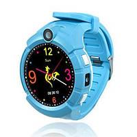 Детские умные часы Q 610S с LED фонариком Голубые
