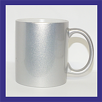 Чашка серебряный перламутр