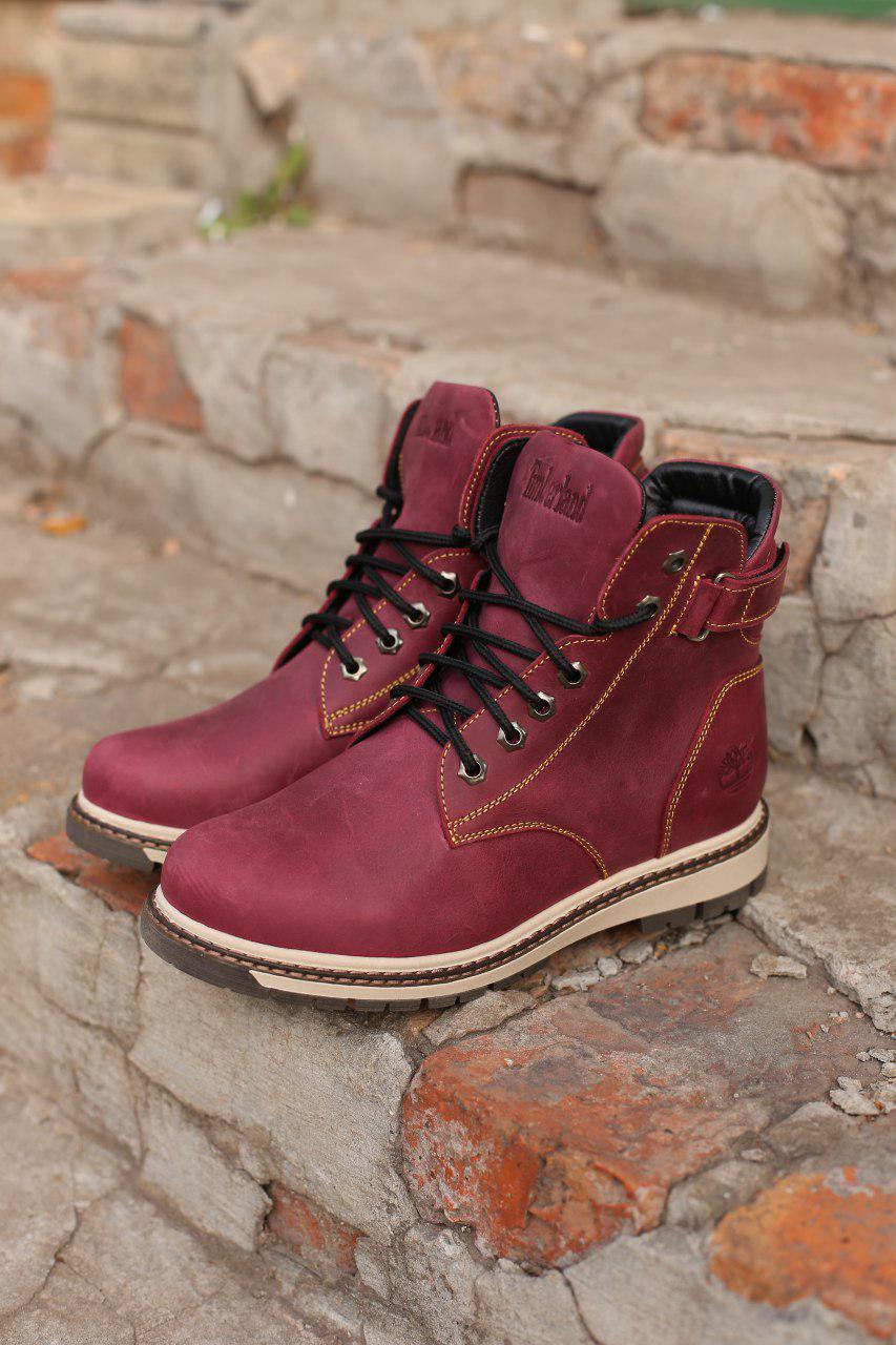 Кожаные ботинки Timberland + набор для ухода за ними В ПОДАРОК Размеры в наличии 36-40