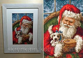"""Набір для вишивки хрестиком """"Дід Мороз-Санта Клаус"""" 22.5х32 см (Aida 16 """"Zweigart"""")"""
