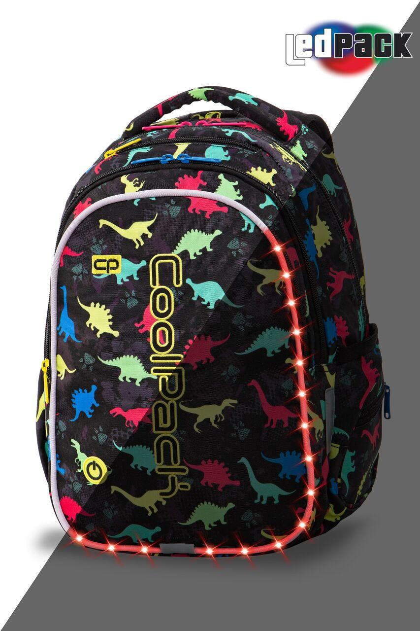 Рюкзак CoolPack LED 23L, модель Dinosaurs Joy M (41x29x20см)