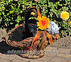 Садовая фигура Корзина сюрприз и Корзина с котенком, фото 2