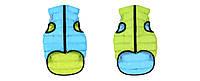 Курточка двухстороння для собак ЭйриВест салатово-голубая