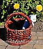 Садовая фигура подставка для цветов Корзина сюрприз и Корзина с котенком, фото 4