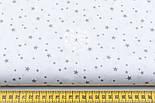 """Ткань хлопковая """"Микро звёздочки"""" серые на белом (№1645а), фото 2"""
