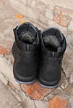 Мужские зимние ботинки  натуральная кожа черные. В Украине!, фото 2
