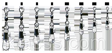Карабин Globe Inter Lock с вертлюжком №10(200шт) 4520304