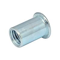 Гайка клепальная, плоская головка М6 х 0,5-3 мм (упаковка 500 шт.)