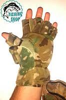Перчатки флисовые с откидной варежкой (камуфляж)