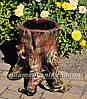 Садовая фигура подставка для цветов Пенек с грибами и Пенек сказочный, фото 3