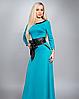 Платье длинное в пол однотонное