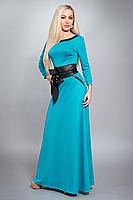 Платье длинное в пол однотонное , фото 2