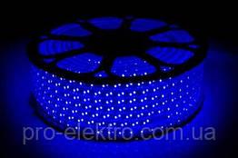 LED лента 2835 STANDART # 13-B 120B2835-220V-12W/m IP65 8mm  Синий 1017847