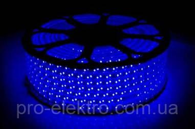 LED лента 2835 STANDART # 13-B 120B2835-220V-12W/m IP65 8mm  Синий