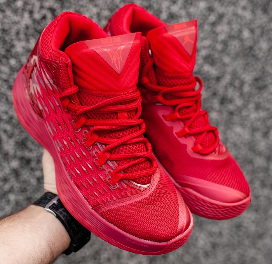 Кроссовки Мужские Nike AIR Jordan Melo M13, найк аир джордан красные