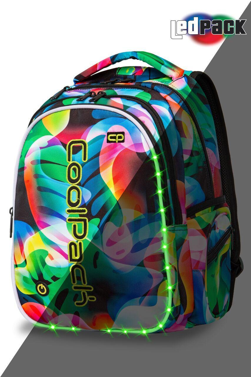 Рюкзак CoolPack LED 26L, модель Rainbow Leaves Joy L (44x32x20см)