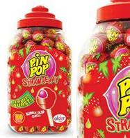 Карамель Pin Pop  strawberry (Клубника)
