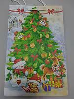 Бумажный пакет с рисунком елочка