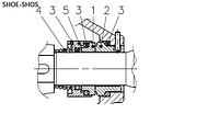 Торцовое уплотнение механическое ( mechanical seal - tenuta meccanica ) к насосу  LOWARA SHOE SHOS SHOE4 S