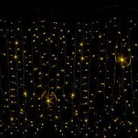 Гирлянда Штора CURTAIN 912LED 2x3m желтый, уличная, внешняя