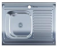 Мойка для кухни накладная прямоугольная левая 800 х 600 x 175/180 IMPERIAL 0,8 глянцевая
