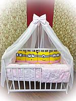 """Комплект детского постельного белья Bonna """"Миньоны"""" розовый"""