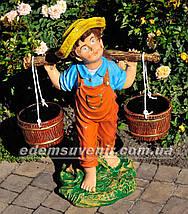 Садовая фигура Дети с коромыслом, фото 2