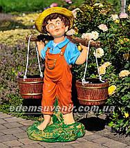 Садовая фигура Дети с коромыслом, фото 3