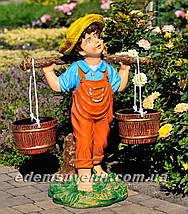 Садовая фигура подставка для цветов Водонос и Девочка с коромыслом, фото 3