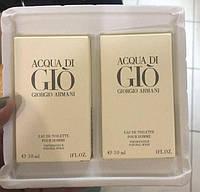 Подарунковий набір чоловічий парфумерії Armani Acqua di Gio pour homme (30мл * 2шт)(репліка)