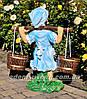 Садовая фигура подставка для цветов Водонос и Девочка с коромыслом, фото 5