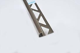 Угол для плитки наружный полукруглый Pawotex 10 мм 2.5 м нержавеющая сталь STR10